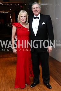 Laurie and Bob Monahan. Photo by Tony Powell. 2016 Choral Arts Gala. Kennedy Center. December 19, 2017