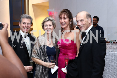 Jeff and Christie Weiss, Debra Kraft Liberatore and Rob Liberatore. Photo by Tony Powell. 2016 Choral Arts Gala. Kennedy Center. December 19, 2017
