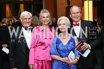 Patrick and Sheila Gross, Betsy and Barlow Burke. Photo by Tony Powell. 2016 Choral Arts Gala. Kennedy Center. December 19, 2017