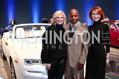 Ashley Dabbiere, Felix Bighem, Anne Jacoboski. Photo by Tony Powell. 2016 Exotic Car & Luxury Lifestyle Reception. Convention Center. January 20, 2016