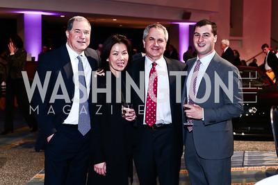 Mai and Jim Abdo, Marc Duber, David Duber. Photo by Tony Powell. 2016 Exotic Car & Luxury Lifestyle Reception. Convention Center. January 20, 2016