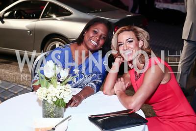 Monica Thompson, Inez Sobczak. Photo by Tony Powell. 2016 Exotic Car & Luxury Lifestyle Reception. Convention Center. January 20, 2016