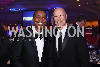Isiah Thomas, Mark Messier. Photo by Tony Powell. 2016 Fight Night. Washington Hilton. November 10, 2016