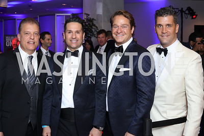 Larry Michael, Chris Tavlarides, Brad Nierenberg, Ben Britton. Photo by Tony Powell. 2016 Fight Night. Washington Hilton. November 10, 2016