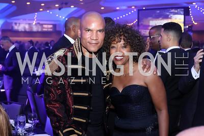 Paxton Baker, Gina Adams. Photo by Tony Powell. 2016 Fight Night. Washington Hilton. November 10, 2016