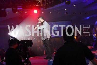 Singer Sal Valentinetti. Photo by Tony Powell. 2016 Fight Night. Washington Hilton. November 10, 2016