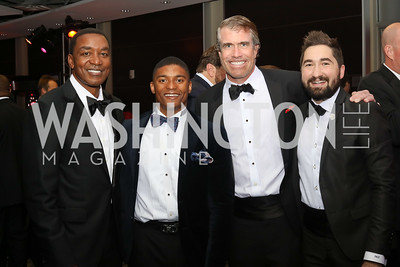 Isiah Thomas, Marcus Goodwin, Scott Stewart, Jason Zuccari. Photo by Tony Powell. 2016 Fight Night. Washington Hilton. November 10, 2016