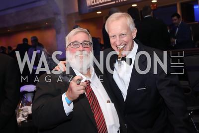 ESPN Sportswriter Thom Loverro, Jack Evans. Photo by Tony Powell. 2016 Fight Night. Washington Hilton. November 10, 2016