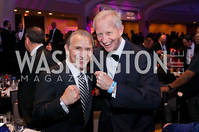 """Boxer Ray """"Boom Boom"""" Mancini, Jack Evans. Photo by Tony Powell. 2016 Fight Night. Washington Hilton. November 10, 2016"""