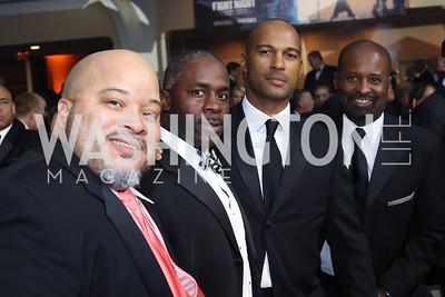 Juan Barrowes, Willie Tate, Kevin Friend, Steve Baldi. Photo by Tony Powell. 2016 Fight Night. Washington Hilton. November 10, 2016