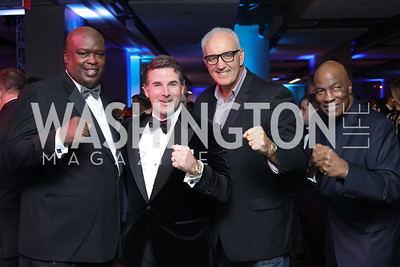 Boxer Buster Douglas, Kevin Plank, Boxers Gerry Cooney and Earnie Shavers. Photo by Tony Powell. 2016 Fight Night. Washington Hilton. November 10, 2016
