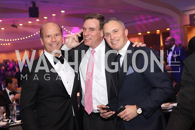 Rep. John Delaney, Sen. Mark Warner, Harold Ford. Photo by Tony Powell. 2016 Fight Night. Washington Hilton. November 10, 2016