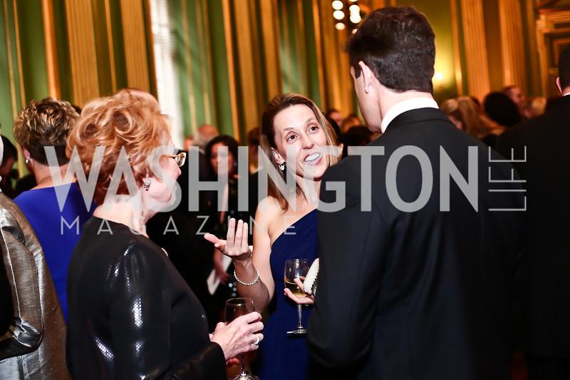 Diane Ambler, Tania Egan, Peter Egan. Photo by Tony Powell. 2016 Georgetown Pediatrics Gala. Mellon Auditorium. April 2, 2016