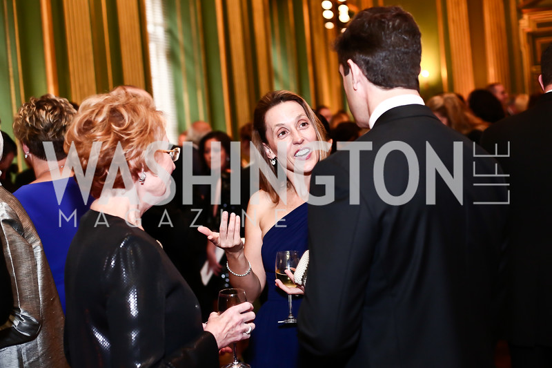 Diane Ambler, Tania Egan, Peter Egan. Photo by Tony Powell. 2016 Georgetown Pediatrics Gala. Mellon Auditorium. April 2, 2016