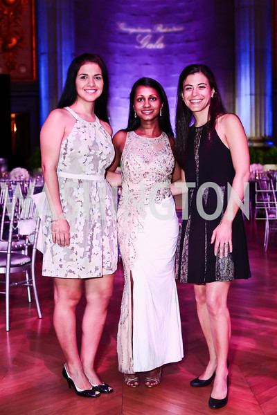 Georgetown Pediatrics 3rd-year Resident Drs. Michelle Porras, Shantha Chelliah, and Natalie Silverman. Photo by Tony Powell. 2016 Georgetown Pediatrics Gala. Mellon Auditorium. April 2, 2016