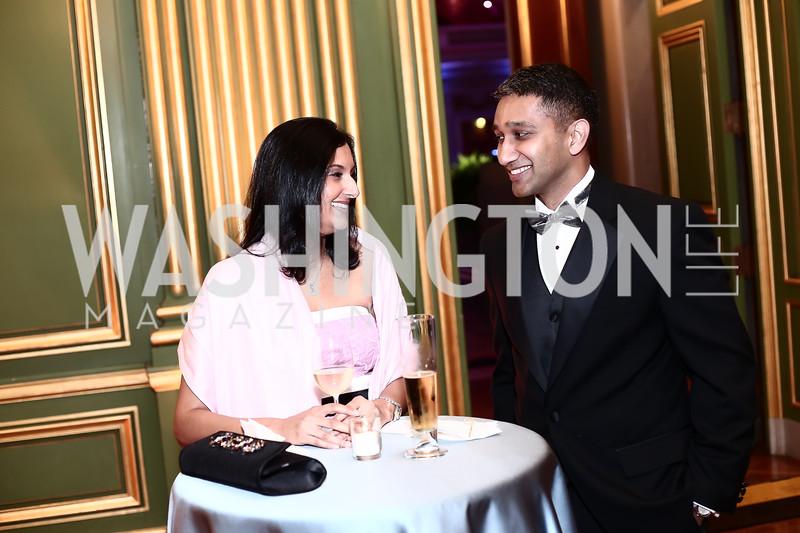Reena and Vishal Joshi. Photo by Tony Powell. 2016 Georgetown Pediatrics Gala. Mellon Auditorium. April 2, 2016