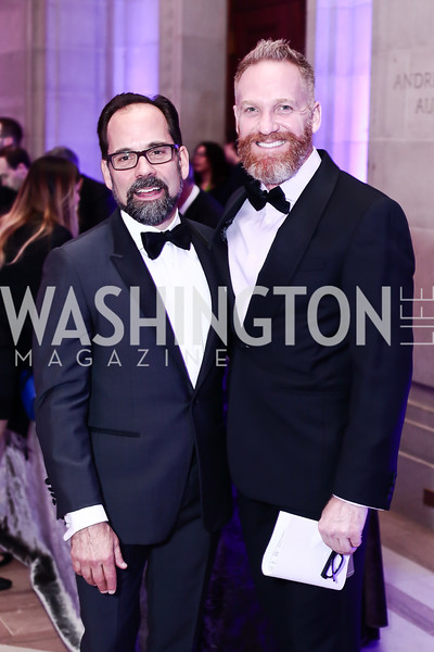 Philip Dufour, Dave Kidney. Photo by Tony Powell. 2016 Georgetown Pediatrics Gala. Mellon Auditorium. April 2, 2016
