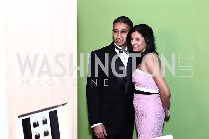 Vishal and Reena Joshi. Photo by Tony Powell. 2016 Georgetown Pediatrics Gala. Mellon Auditorium. April 2, 2016
