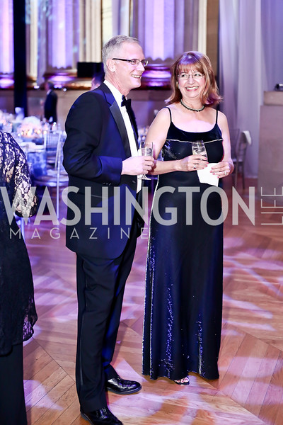 David and Lou Ann Heimbrook. Photo by Tony Powell. 2016 Georgetown Pediatrics Gala. Mellon Auditorium. April 2, 2016
