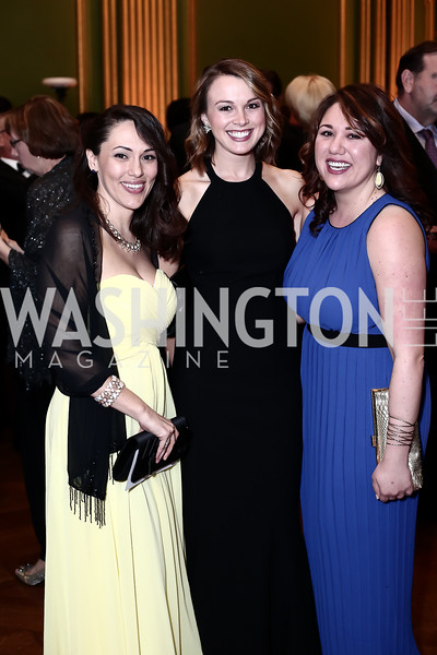 Julie Lowe, Kristen Claus, Rachel Taninecz. Photo by Tony Powell. 2016 Georgetown Pediatrics Gala. Mellon Auditorium. April 2, 2016