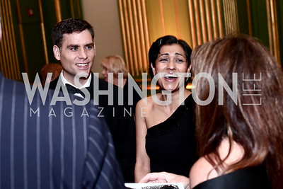 Department Chair Dr. Michael Donnelly and Dipti Patel-Donnelly. Photo by Tony Powell. 2016 Georgetown Pediatrics Gala. Mellon Auditorium. April 2, 2016