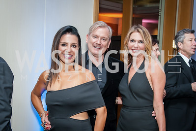 Lily Talakoub, Mark MacFadden, Erika Schiller. Photo by Tony Powell. 2016 Georgetown Rocks CAG Gala. Four Seasons. October 22, 2016