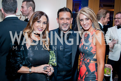 Roxana and Edwin Villegas, Tara Patten. Photo by Tony Powell. 2016 Georgetown Rocks CAG Gala. Four Seasons. October 22, 2016