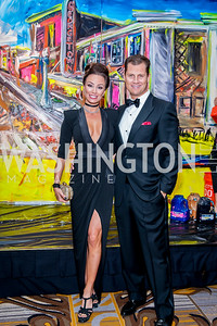 Kristin and John Cecchi. Photo by Tony Powell. 2016 Georgetown Rocks CAG Gala. Four Seasons. October 22, 2016