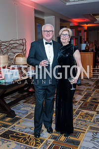 Bill Causey, Salley Gere. Photo by Tony Powell. 2016 Georgetown Rocks CAG Gala. Four Seasons. October 22, 2016