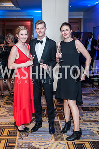 Laura and Hywel Mills, Libby Penn. Photo by Tony Powell. 2016 Georgetown Rocks CAG Gala. Four Seasons. October 22, 2016