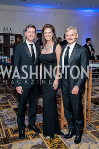 Steve Cohen, Tara Sakraida and Richard Parker. Photo by Tony Powell. 2016 Georgetown Rocks CAG Gala. Four Seasons. October 22, 2016