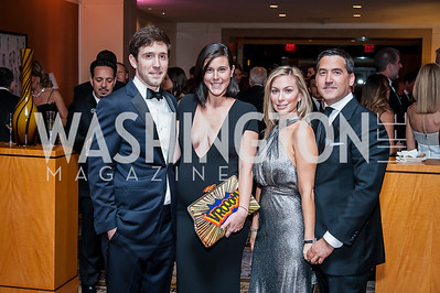 Chris and Candace Ourisman, Stephanie and Keith Lemer. Photo by Tony Powell. 2016 Georgetown Rocks CAG Gala. Four Seasons. October 22, 2016
