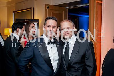 Chris Tavlarides, Mark Ein. Photo by Tony Powell. 2016 Georgetown Rocks CAG Gala. Four Seasons. October 22, 2016