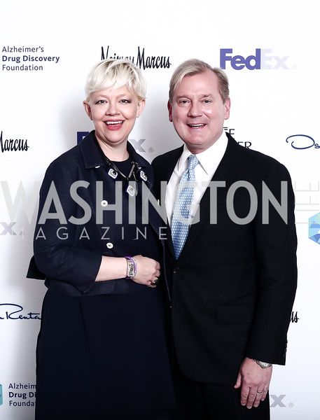Kim Sajet, Mark McFadden. Photo by Tony Powell. 2016 Great Ladies Luncheon. Ritz Carlton. April 13, 2016