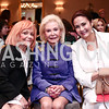 Francine Levinson, Dianne Kay, Lynda Carter. Photo by Tony Powell. 2016 Great Ladies Luncheon. Ritz Carlton. April 13, 2016