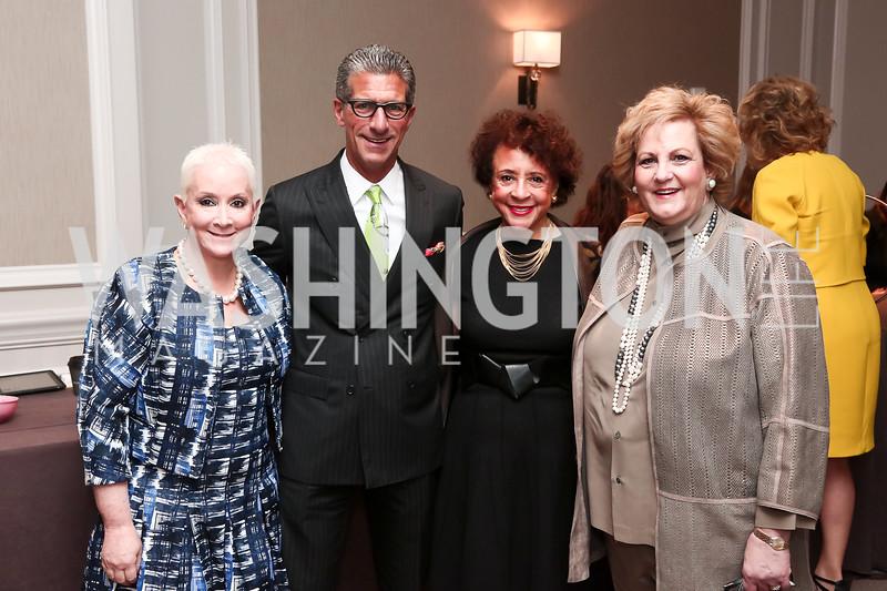 Elise Lefkowitz, Marc Lefkowitz, Sheila Johnson, Martha Slagle. Photo by Tony Powell. 2016 Great Ladies Luncheon. Ritz Carlton. April 13, 2016