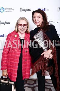 Gilan Tocco Corn, Aniko Gaal Schott. Photo by Tony Powell. 2016 Great Ladies Luncheon. Ritz Carlton. April 13, 2016
