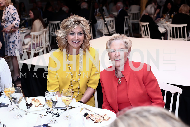 Kelly Ripken, Jo Cooper. Photo by Tony Powell. 2016 Great Ladies Luncheon. Ritz Carlton. April 13, 2016