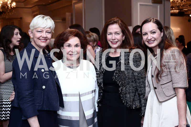 Kim Sajet, Alma Gildenhorn, Ginger Pape, Fran Holuba. Photo by Tony Powell. 2016 Great Ladies Luncheon. Ritz Carlton. April 13, 2016