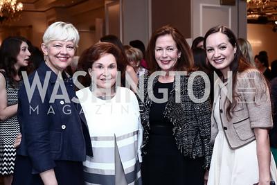 Kim Sajet, Alma Gildenhorn, Ginger Pape, Fran Holuba. Photo by Tony Powell. 2016 Great Ladies Luncheon. Ritz Carlton. April 13, 2016