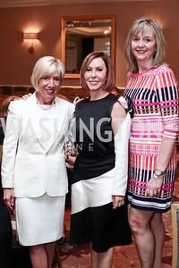 Vicki Kellogg, Nancy Goodes, Melanie Caceres. Photo by Tony Powell. 2016 Great Ladies Luncheon. Ritz Carlton. April 13, 2016