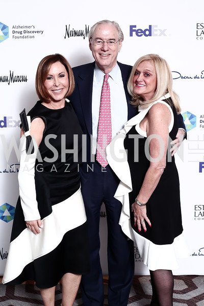 Nancy Goodes, George and Trish Vradenburg. Photo by Tony Powell. 2016 Great Ladies Luncheon. Ritz Carlton. April 13, 2016