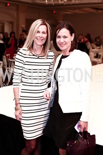 Eileen Shields-West, Kathryn Rand. Photo by Tony Powell. 2016 Great Ladies Luncheon. Ritz Carlton. April 13, 2016
