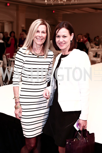 Eileen Shields-West, Kathryn Rand. Photo by Tony Powell. 2016 Great Ladies Luncheon. Ritz Carlton. April 13, 2016