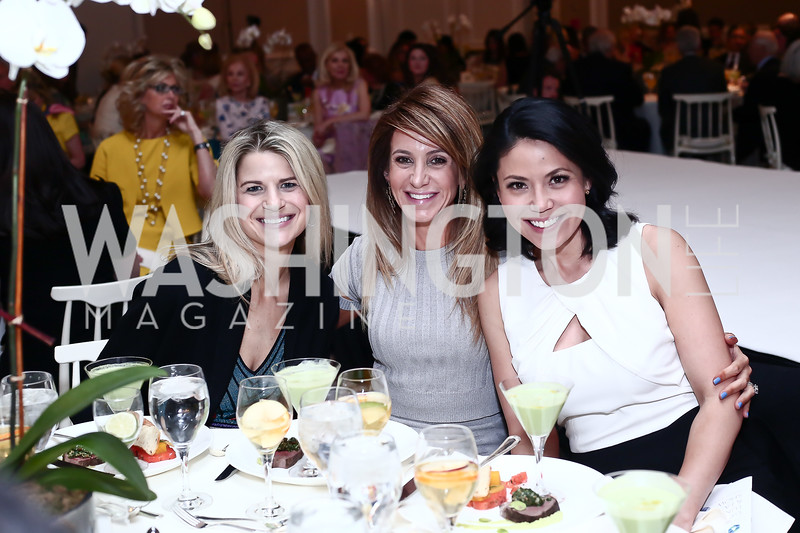 Callie Nierenberg, Tara Patten, Angie Goff. Photo by Tony Powell. 2016 Great Ladies Luncheon. Ritz Carlton. April 13, 2016