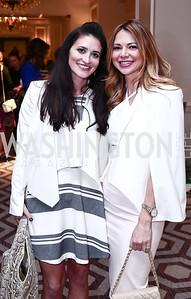 Jen Sheridan, Kelly Halpern. Photo by Tony Powell. 2016 Great Ladies Luncheon. Ritz Carlton. April 13, 2016
