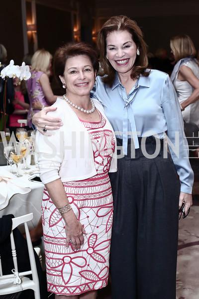 Toni Verstandig, Teresa Carlson. Photo by Tony Powell. 2016 Great Ladies Luncheon. Ritz Carlton. April 13, 2016