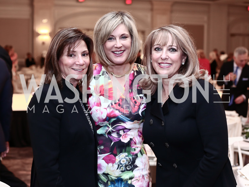 Shelley Holt, Marcy Cohen, Debbie Linowes. Photo by Tony Powell. 2016 Great Ladies Luncheon. Ritz Carlton. April 13, 2016