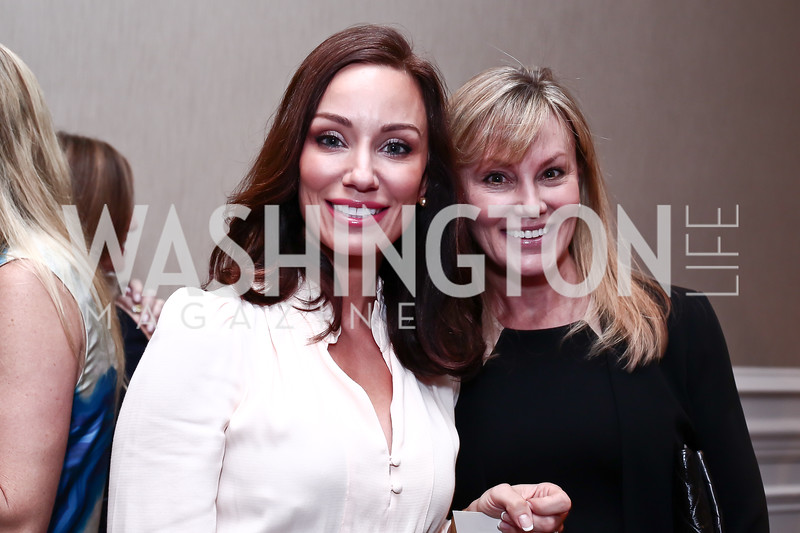 Kristin Cecchi, Dondi Dahlgaard. Photo by Tony Powell. 2016 Great Ladies Luncheon. Ritz Carlton. April 13, 2016