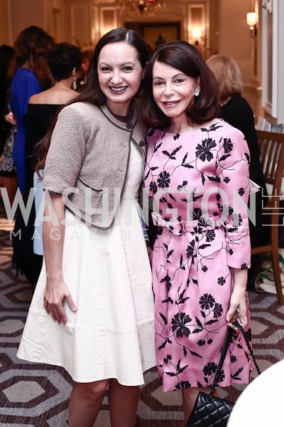 Fran Holuba, JoAnn Mason. Photo by Tony Powell. 2016 Great Ladies Luncheon. Ritz Carlton. April 13, 2016